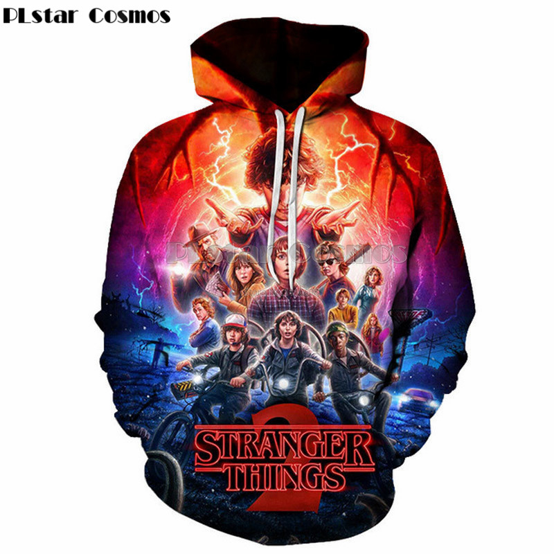PLstar Cosmos Hot TV Stranger Things Fashion New Style Men/Women Hooded Hoodies 3d Print Thin Tracksuits Pullovers Sweatshirts