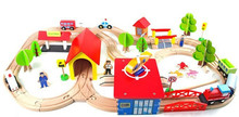 New wooden toy Kids Fun Railway Baby