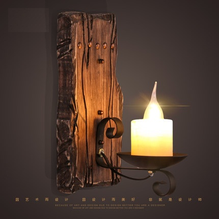 official photos 9bddc fe637 Loft Style Wood Marble Wall Sconce Vintage Wall Light For Home Antique  Industrial LED Wall Lamp Indoor Lighting Luz De Pared