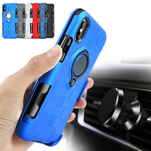 XINGDUO 2 in 1 phone case for iphone 7 Car Holder 360 Kickstand cover 6 8 6S Plus Anti-knock
