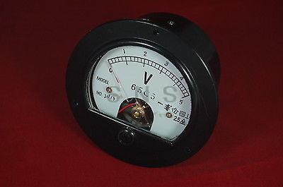 DC 0-5V Round Analog Voltmeter <font><b>Voltage</b></font> Panel meter DH62 Directly connnected image