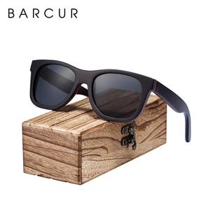 Image 5 - BARCUR סקייטבורד עץ משקפי שמש משקפיים מקוטב לגברים/WomenWood משקפי שמש סקייטבורד אמיתי משקפי שמש עם תיבת משלוח
