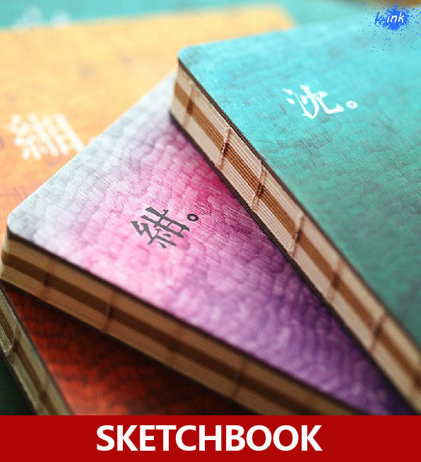 Chinese Style Vintage Simple Color Sketchbooks , Colorful Vintage Paper Sketch Book For Drawing As School Stationary