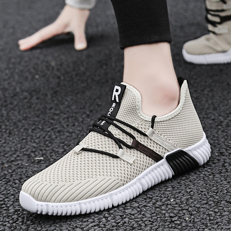 Daily casual men 39 s sports shoes 2019 cross border summer mesh flying woven breathable running shoes lightweight men 39 s shoes in Men 39 s Casual Shoes from Shoes