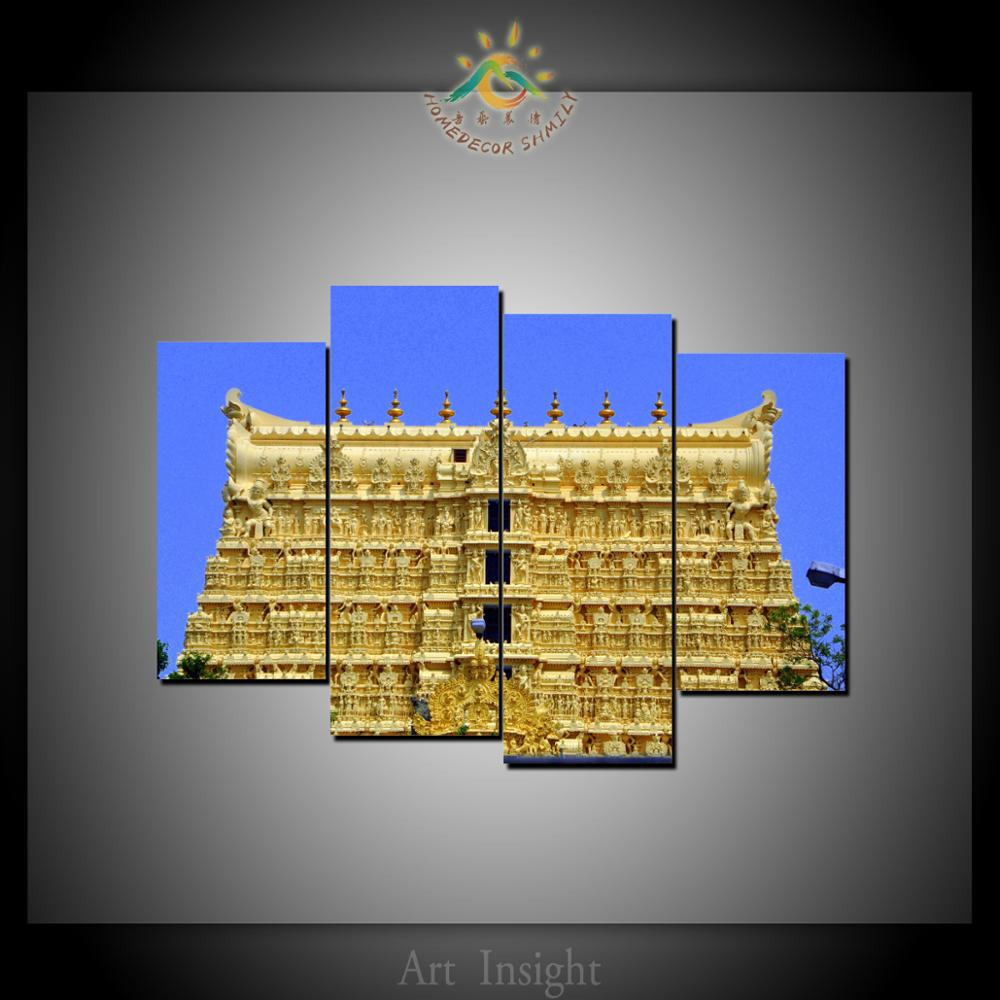 4 Panel Lord India Temple Wall Art Prints on Canvas Modern Pop Art ...