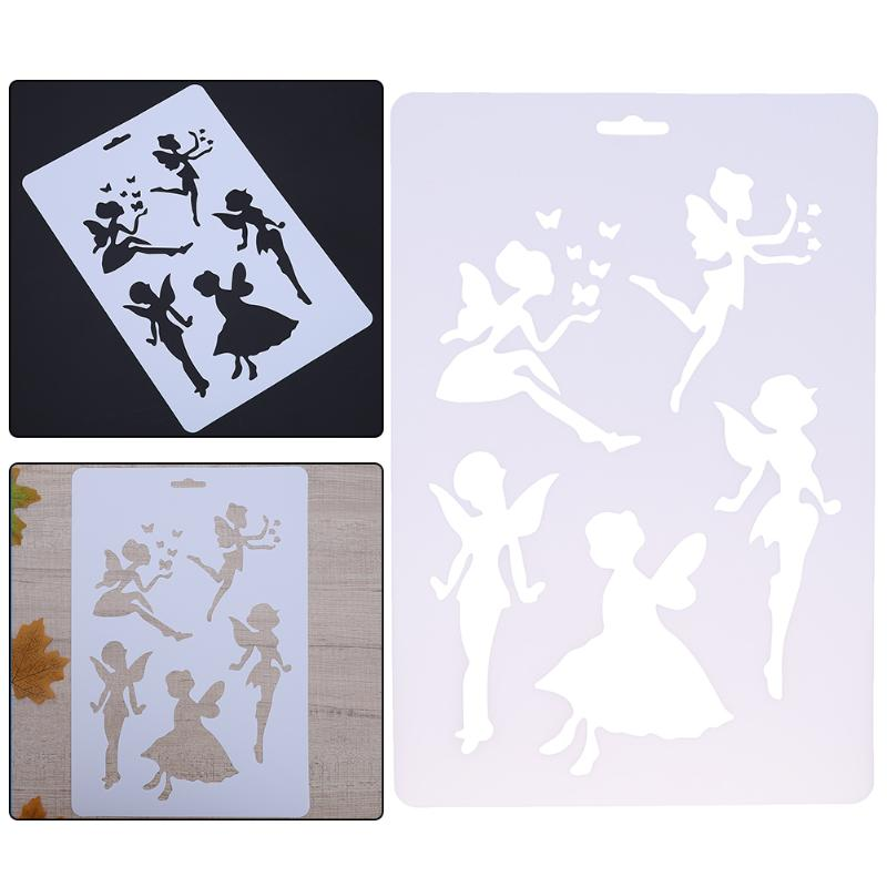 Angle Patter Stencils For Painting DIY Scrapbooking Craft Photoalbum Plastic Layering Templates Wall Spray Drawing Cards Pochoir