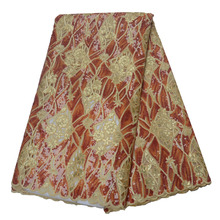 Hot Selling Embroidered Lace fabric for Wedding Dress HX1118-2