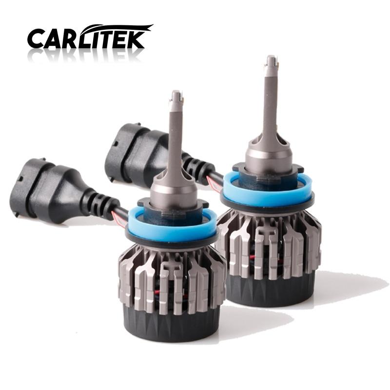 CARLitek frontal led para cabeza h 11 h11 h8 h9 linterna cabeza led 3000 K 4300 K linterna del coche de la bombilla 6500 K 8000 K luces para auto