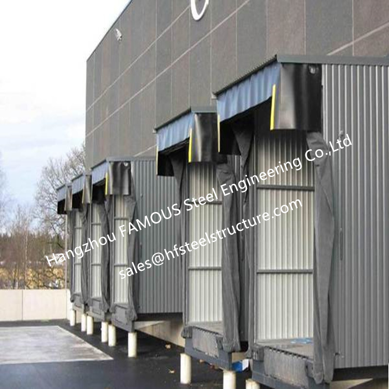 Mechanical Retractable Inflatable Industrial High Speed Door Seals Polyester Fabric Door Shelters For Lorry