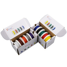 100m UL 1007 26AWG 10 color Mix box package Electrical Wire Cable Line Airline Copper PCB Wire box1+box2