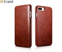 Retro Luxury Genuine Leather Original Mobile Phone Cases For Apple iPhone 7 8/ Plus Full Edge Closed Flip Case Cover Accessories