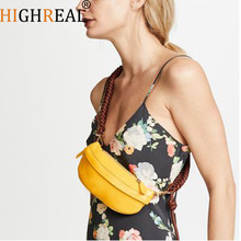 HIGHREAL Waist Bag Fanny Pack Belt Bag Women Thigh Bags Thread Fashion Fall Winter Black Yellow Blue Orange Color Drop shipping