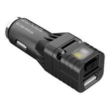 Nitecore vcl10 suporte multifuncional, aparelho de veículo multifuncional, qc 3.0, carregador de veículo/disjuntor de vidro/de emergência luz de aviso