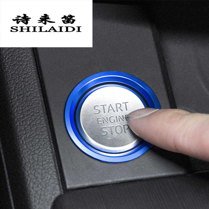Car Styling Engine START Button Cover Ring STOP Key Switch Decoration  Sticker Auto Accessories For Audi A4 B9 A5 A6 C7 A7 Q5 Q7