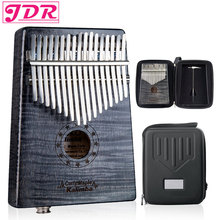JDR 17 Key EQ Kalimba Pickup Gecko  Thumb Piano builts-in EVA high-performance protective box Keyboard Musical Instrument