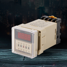 High quality DH48S-2Z digital time relay AC220V DC24V with base 10 set base time timer relay 8pin h3y 2 h3y dc24v 5a 0 1min 3min 3min