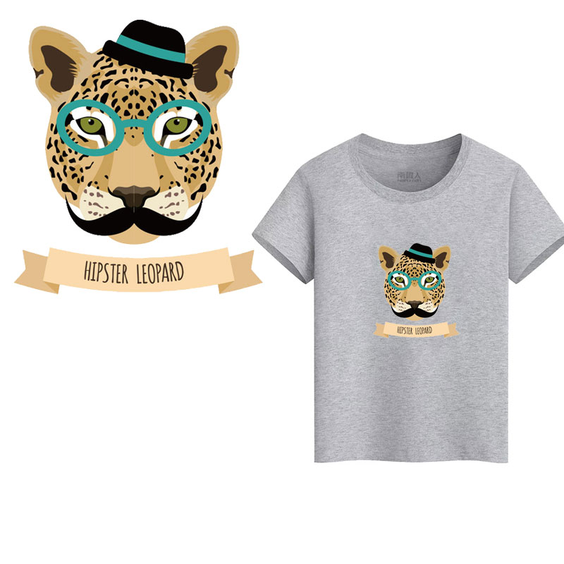 cartoon Animal Patch Iron on Transfer Bullhead Lion Unicorn Patches for Clothing DIY T shirt Applique Heat Transfer Vinyl D in Patches from Home Garden