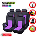 (Car-Pass) Universal Car Seat Covers PU Auto Car-Covers 9 Color Car Interior Leather Covers Fit For All Cars