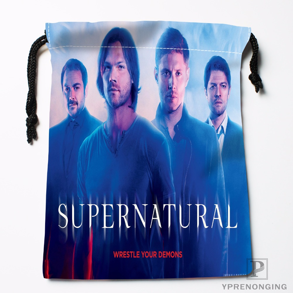Custom SupernaturalDrawstring Bags Travel Storage Mini Pouch Swim Hiking Toy Bag Size 18x22cm#0412-03-38