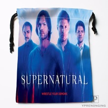 Custom SupernaturalDrawstring Bags Travel Storage Mini Pouch Swim Hiking Toy Bag Size 18x22cm#0412-03-38