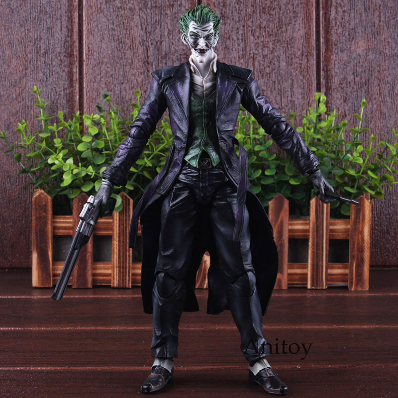 Play Arts KAI Batman Joker Figure Arkham Origins NO.4 The Joker Action Figure Collectible Toy 26cm цена