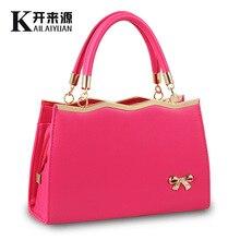 New Arrival 2015 Spring Summer Fashion Women's Brand Cute Bow Handbags One Shoulder Cross-body Handbag Patchwork Tote Bag