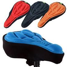 Nueva funda 3D suave de silicona para bicicleta y ciclismo, asiento transpirable, cojín de Gel, almohadilla suave para bicicleta, accesorios para bicicleta