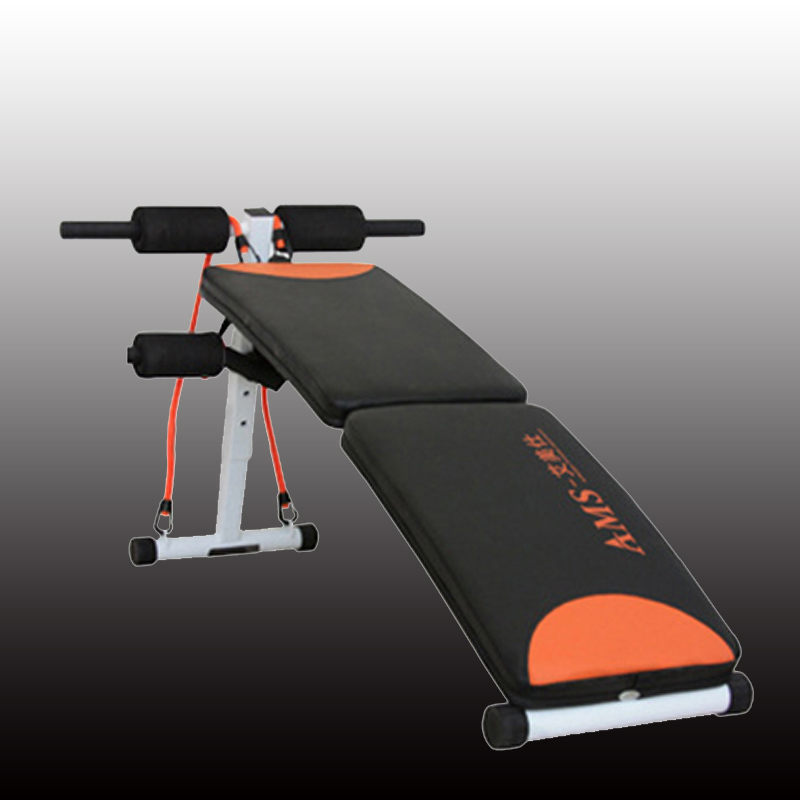 Folding adjust multi-function sit up bench for sport sitting fitness body abdominal Ab bench Sit Up Bench with Resistance Bands цена
