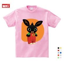 2019 Children Cartoon Bing Rabbit/Bunny Funny T Shirt Baby Boys/Girls Summer Tops Short Sleeve T Shirts Kids Cute Clothes 3T-9T все цены
