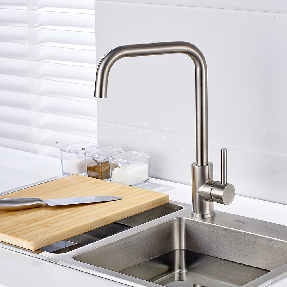 Cocina Kitchen Cart With Stainless Steel Top: High Quality Guarantee! Stainless Steel Kitchen Sink Tap