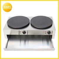 Electric 40cm double pan Crepe Maker Commerical pancake baking machine/Pancake Machine