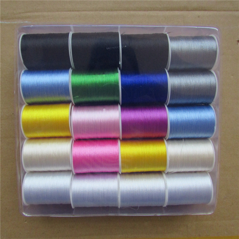 Multicolores rayonne famille dépenses fil à coudre BRICOLAGE toutes sortes de vêtements taie d'oreiller drap de lit 20 pcs/1 boîte de vente