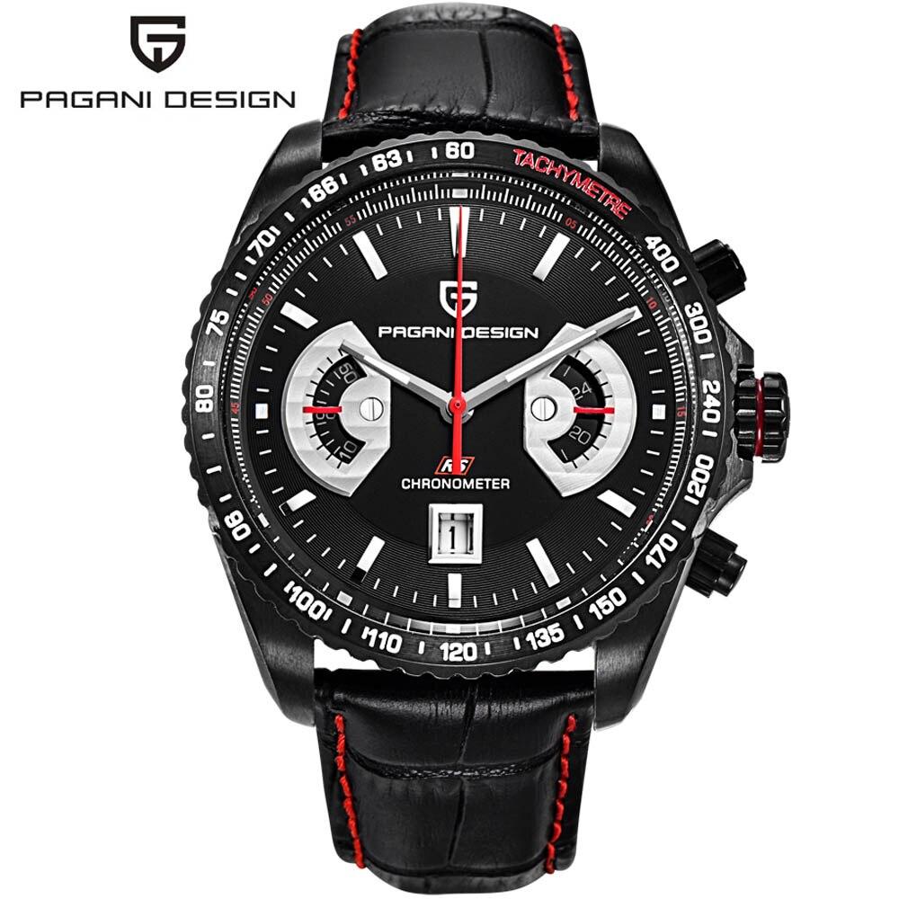 где купить Relogio Masculino 2017 Men Luxury Brand Pagani Design Multifunction Sport Watches Dive 30m Chronograph Military Quartz Watch по лучшей цене