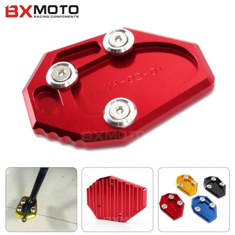 Nueva motocicleta accesorios moto red cnc de aluminio palo side soporte placa de