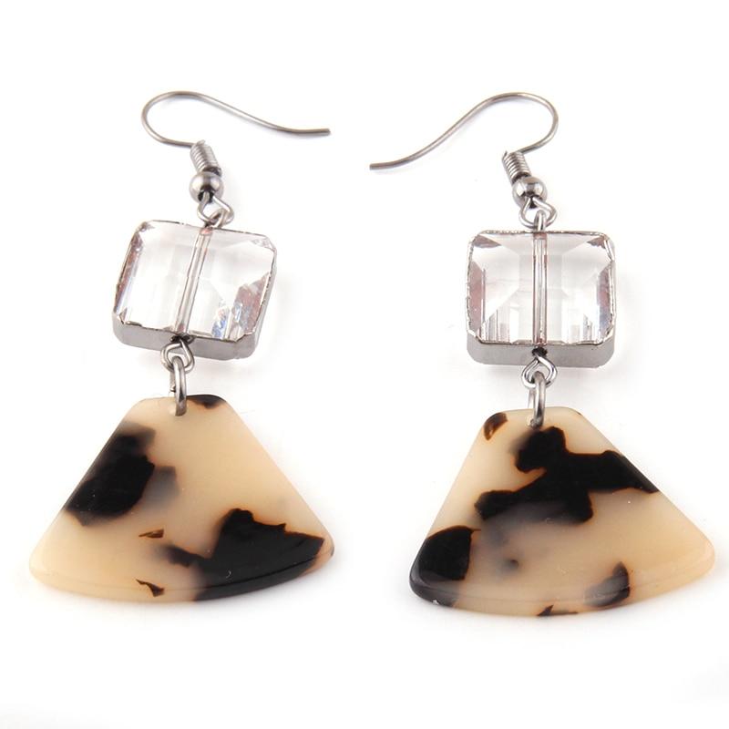 Fashion Crystal Link Acrylic leopard Earring|Drop Earrings| - AliExpress