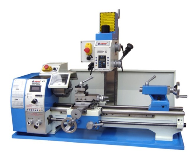 Mini bench lathe drilling machine tool household small metal lathe precision instrument tool bench lathe WBP250V