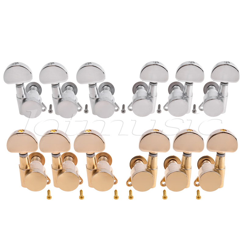 Electric Acoustic Guitar Tuning Pegs Keys Tuners Machine Heads 3x3 2 Set a set of 6 pcs locked string tuners tuning pegs key machine heads for acoustic electric guitar lock