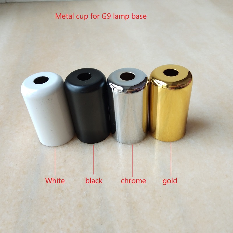 Lighting Accessories Beautiful 10pcs/lot 22x40mm Gold/chrome/white/black Metal Cup Cap For G9 Lampholder Lamp Base Use Lighting Accessories