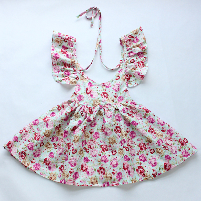1cab4713f93a 2015 New latest vintage floral girls dress retail wholesale baby ...