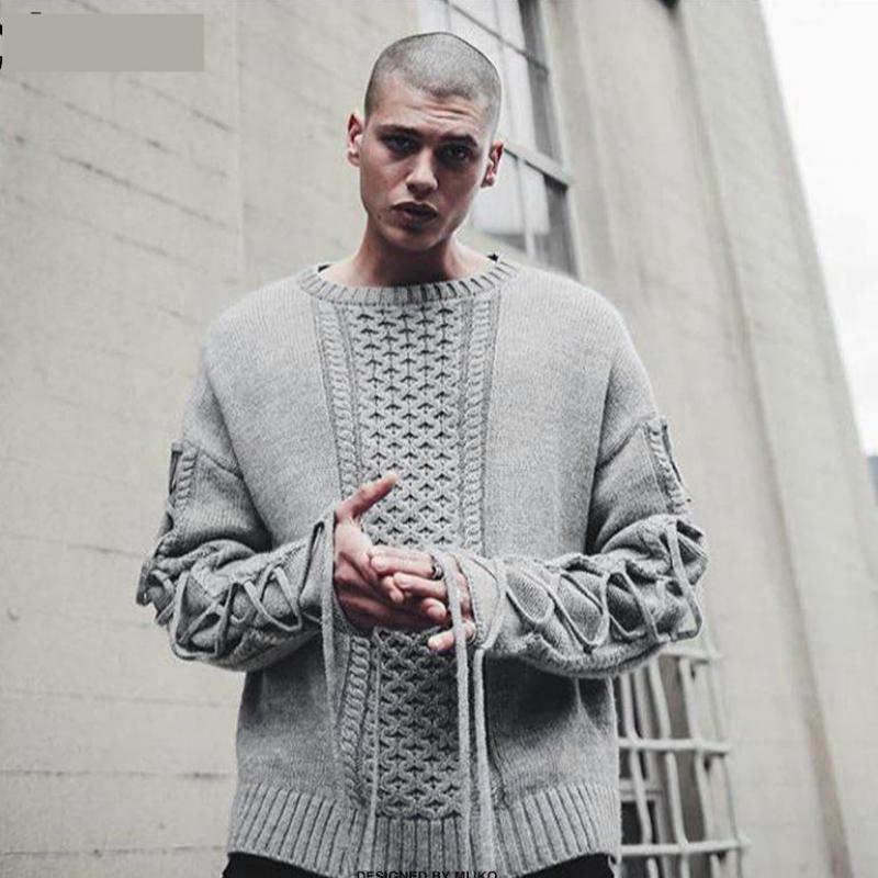PUNKOOL Men Sweater Kanye Oversize Sweater Kanye West Justin Bieber ...