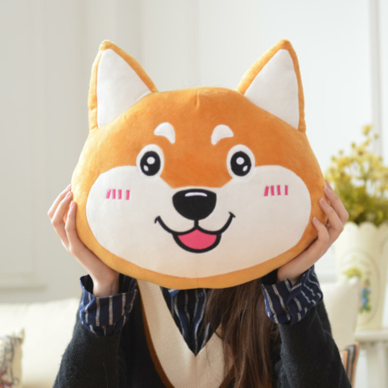 Cute Cartoon Shiba Inu Cushion Pet Dog Soft Toy Kids Puppy Stuffed Animal Sofa Pillow Plush Toy Birthday Gift 35cm