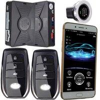 Смартфон gsm и gps автомобильная сигнализация Совместимость с ios и android телефон Центральный замок для авто автомобиля двигатели для start stop Сист