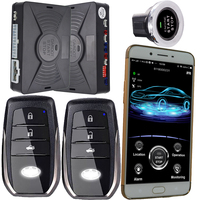 Smartphone gsm&gps car alarm compatible with ios and android phone auto central lock car engine start stop system keyless go