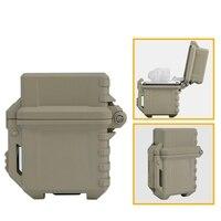 Taktyczne zapalniczki do przechowywania przypadku uniwersalna przenośne pudełko pojemnik lżejsze pudełko do przechowywania Camping piesze wycieczki na zewnątrz narzędzia w Zewnętrzne narzędzia od Sport i rozrywka na