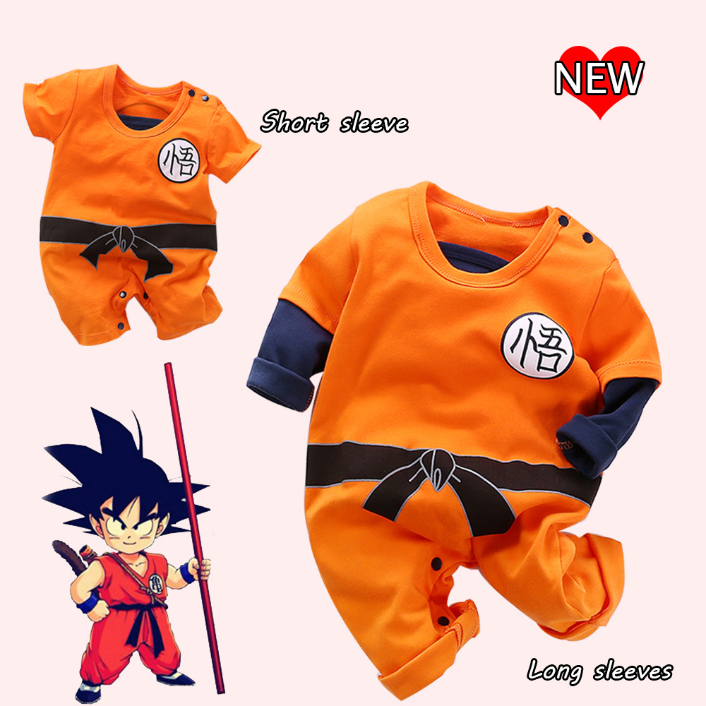 YiErYing Baby Clothing 2018 New Newborn Romper Dragon Ball Cartoon Print Cotton Long and Short Sleeve Baby Boy Girl jumpsuits 2017 baby romper girl and boy short sleeve monkey print summer clothing for newborn next jumpsuits