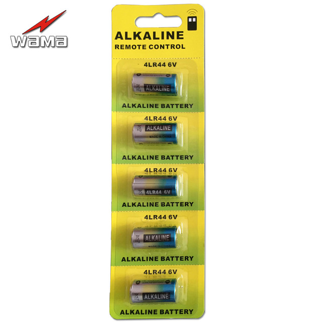 5pcs/pack Wama 4LR44 6V Dry Alkaline Battery Cells Car Remote Watch Toy Calculator