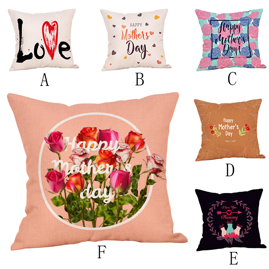 Happy Mother's Day Pillow Case Sofa Bed Home Decoration