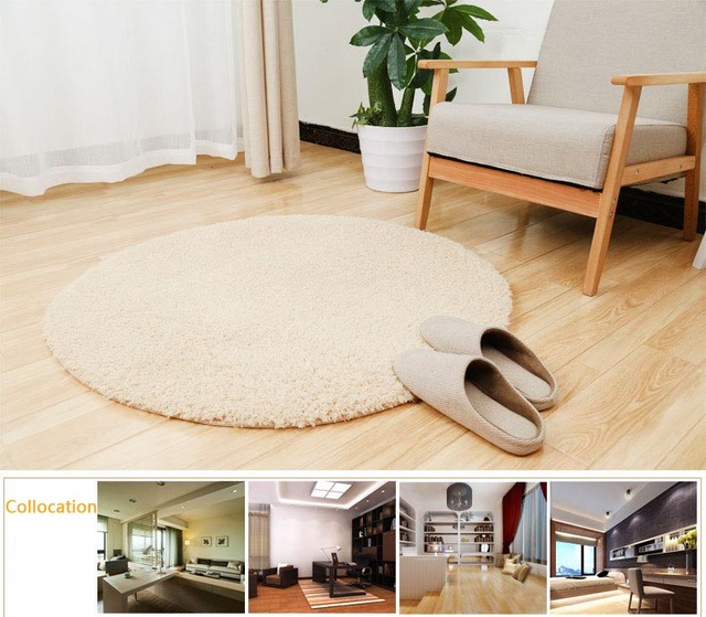Home Decorator Modern Round Area Rugs Super Soft Solid Living Room Carpet Bedroom Washable Rug
