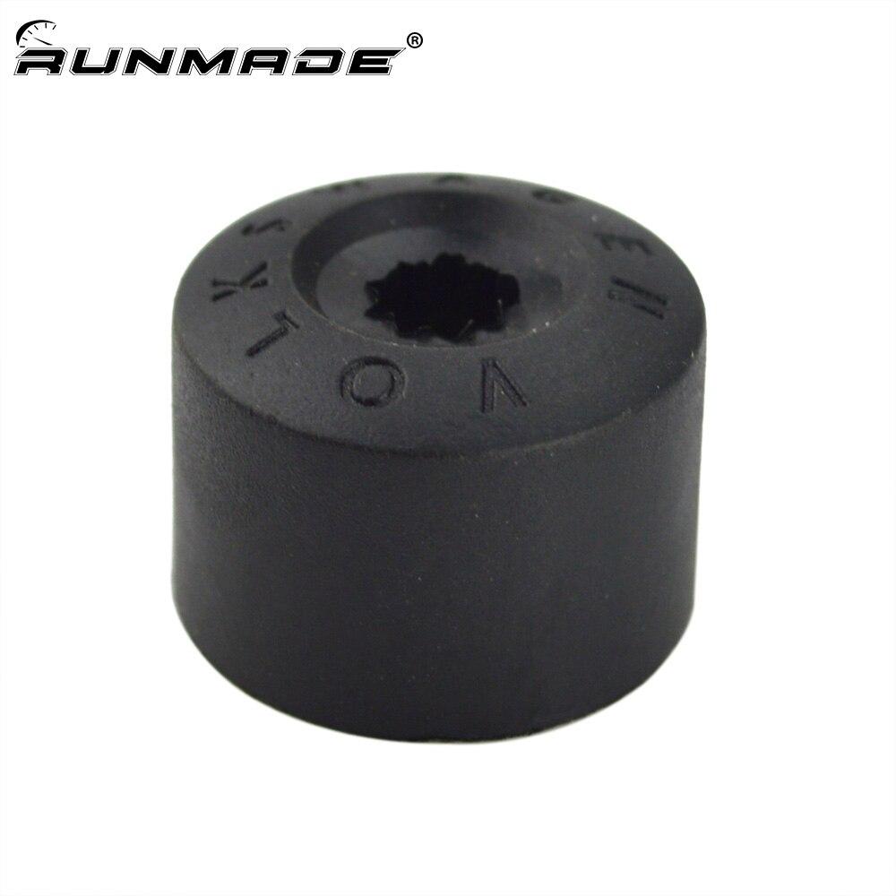 runmade Wheel Lug Nut Center Cover Caps 1K0 601 173 A For VW Jetta Golf Passat Beetle EOS Tiguan
