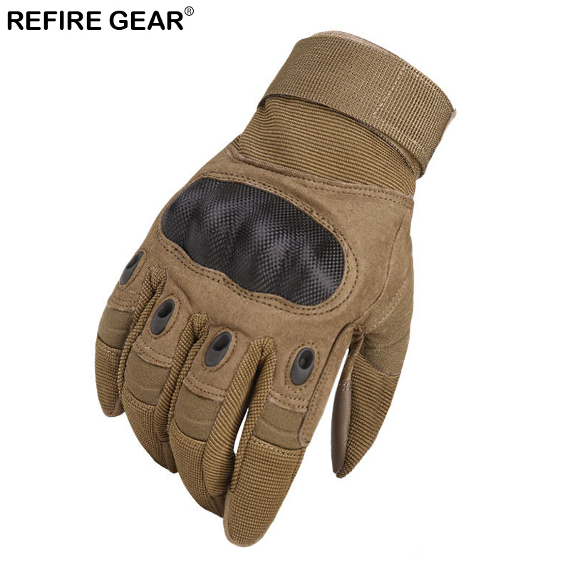 Refire Gear Cycling Full Finger Gloves Men Anti-skid Outdoor Tactical Glove Male Hiking Camping Fishing Riding Bicycle Gloves